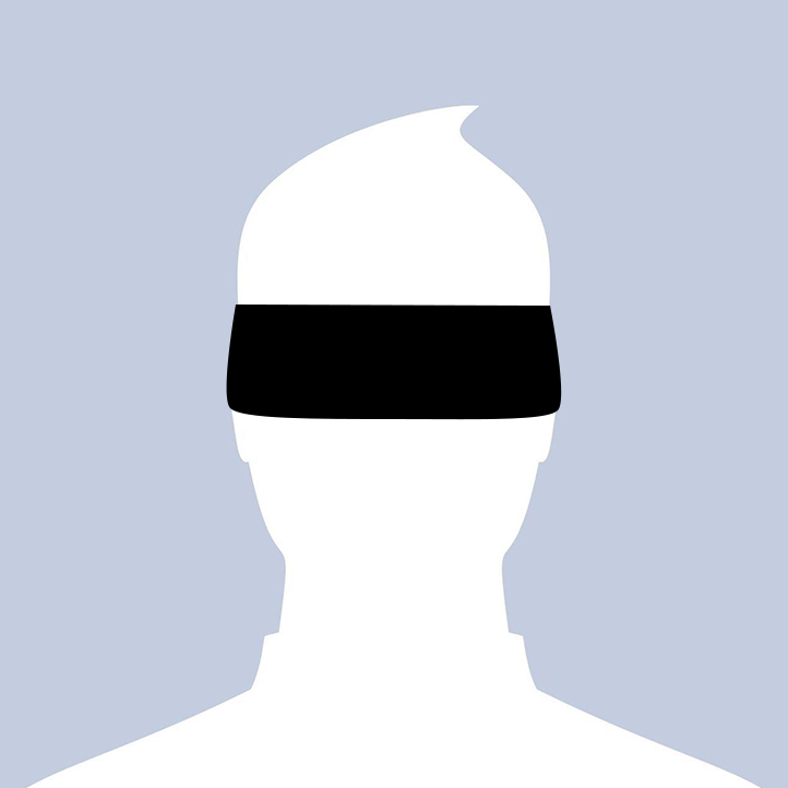 Facebook Placeholder Profile Photo with a Blindfold