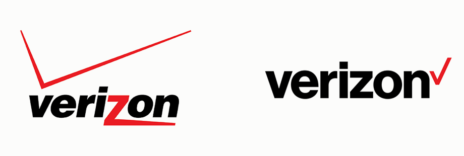 Old and New Verizon Logo