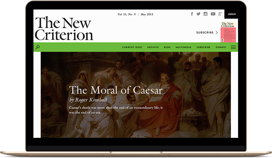 The New Criterion Home Page
